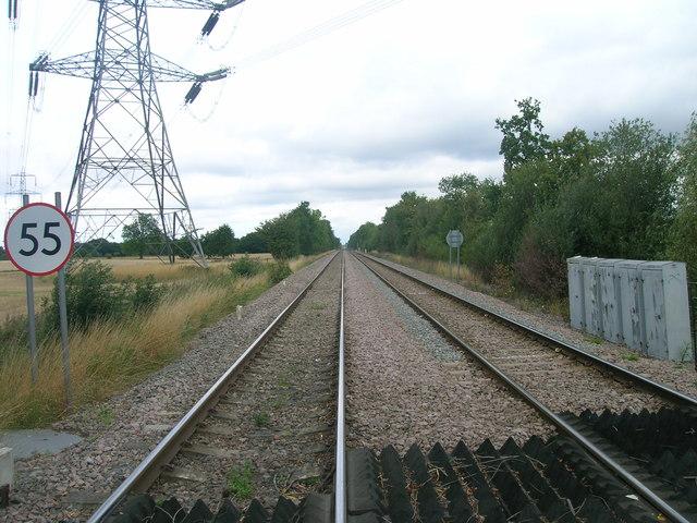 Railway heading north