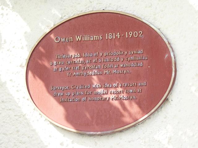 Owen Williams 1814 - 1902, Llandudno