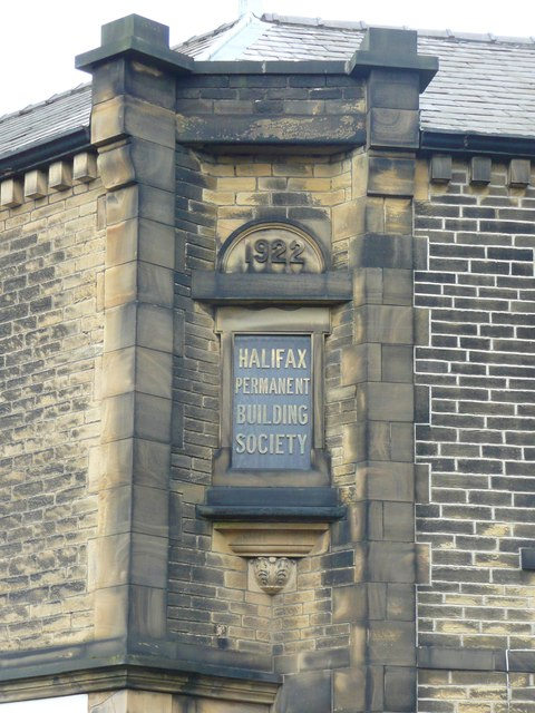 Datestone on former building society premises, Stainland Road, Greetland