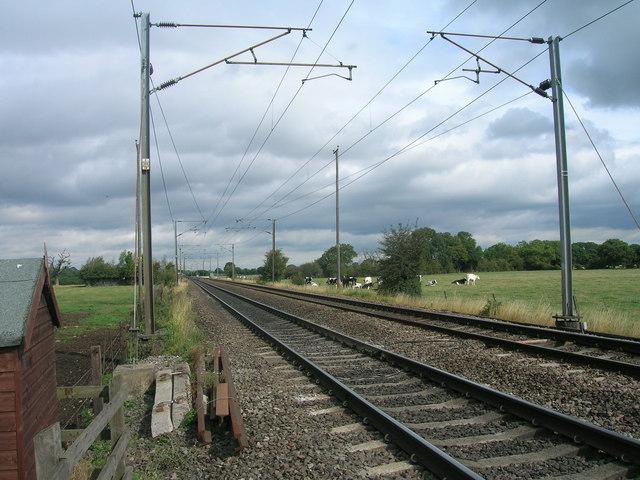 Railway towards Selby