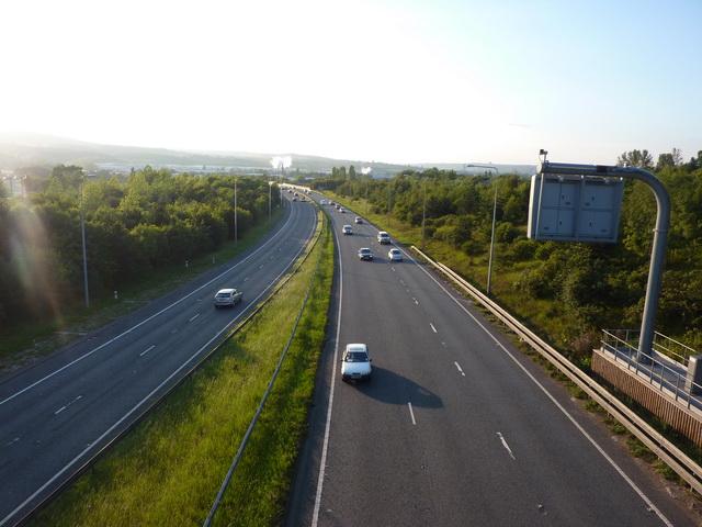A1 from Smithy Lane bridge