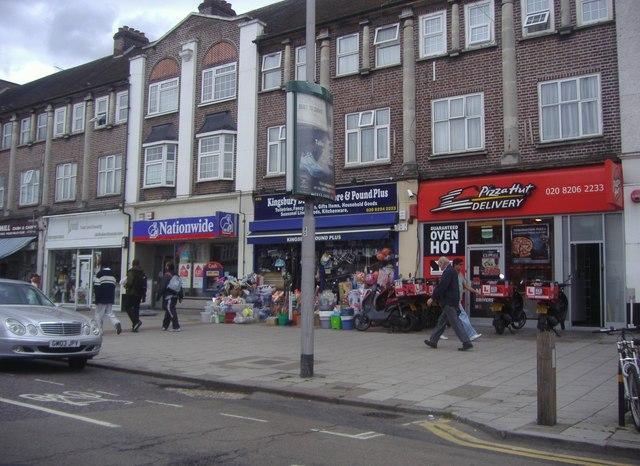 Shops on Kingsbury Road