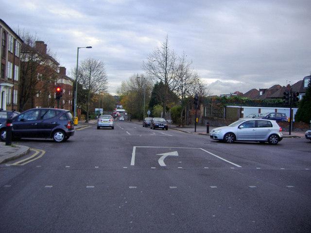 Junction of Brent Street and Green Lane, Hendon
