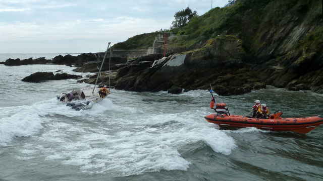 Rescued by RNLI lifeboat