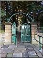 NZ2557 : Parish Church of St Andrew, Lamesley, Gate by Alexander P Kapp