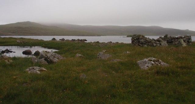 Huxter Loch, east shore