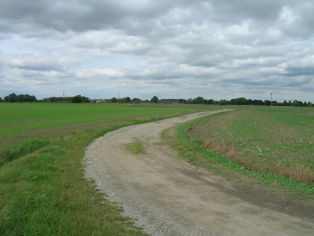 Cycle path towards Balne Lodge