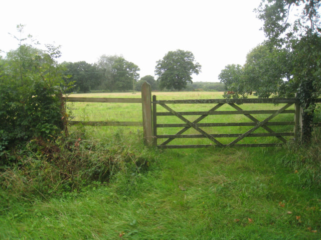 Typical farm gate - Steventon