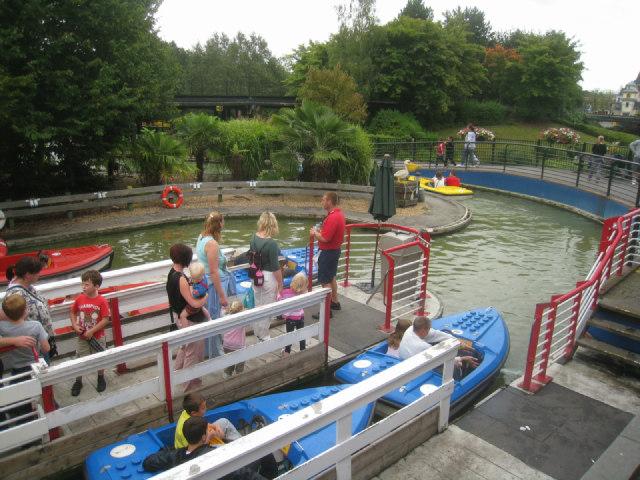 Boat rides at Legoland