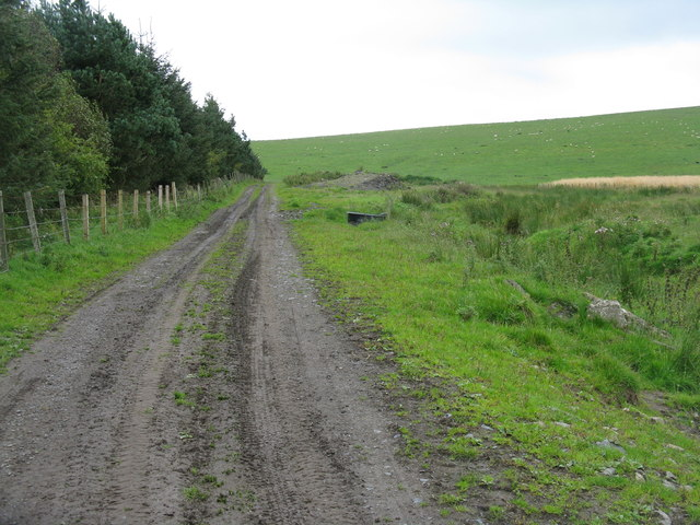 Track into the Moorfoot Hills