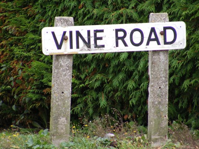 Vine Road sign