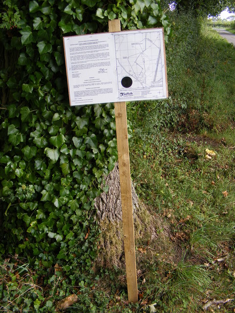 Footpath amendment Notice on Kelsale footpath No.17