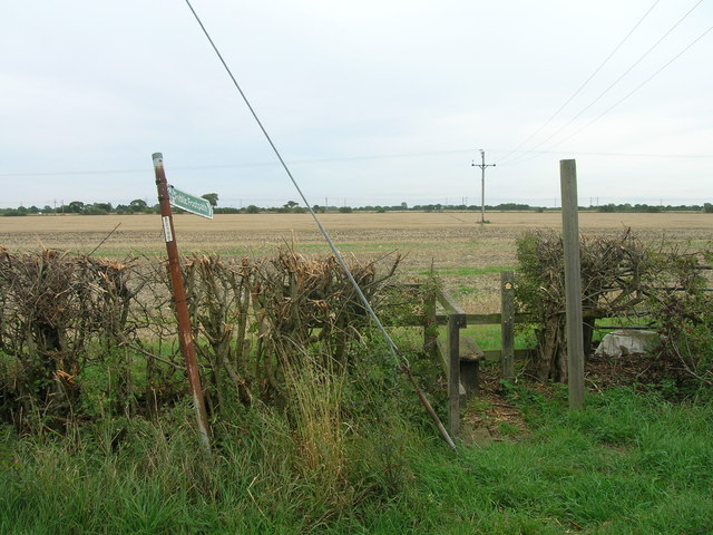 Footpath over field