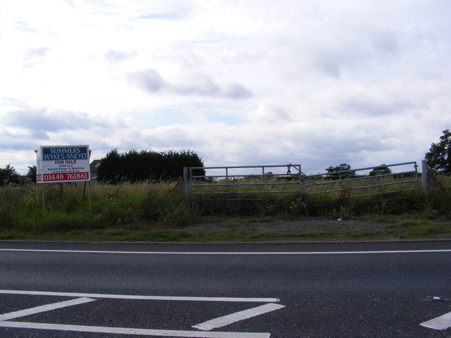 Field Entrance off the A12 at Kelsale