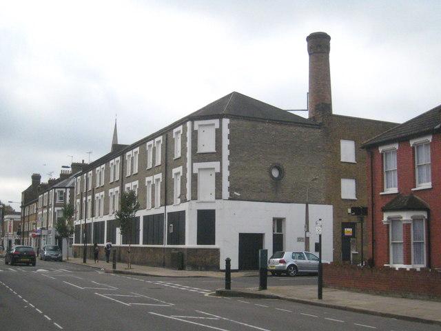 Disused industrial premises in Rylston Road Fulham
