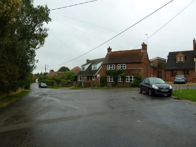 Houses opposite St Luke's Church, Stoke Hammond