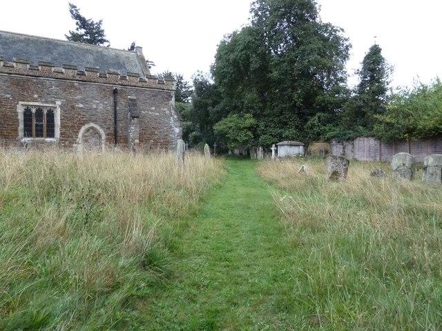 St. Mary the Virgin, Great Brickhill: church path