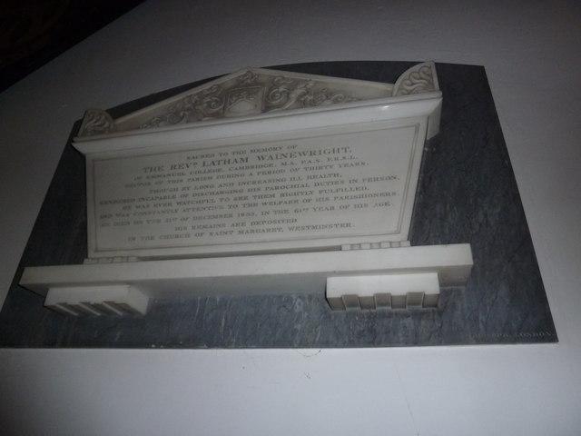 St. Mary the Virgin, Great Brickhill: memorial