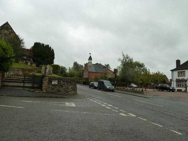 Looking from Woburn Road into Watling Street