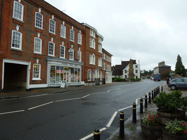 Looking across Bedford Street towards the Woburn China Shop
