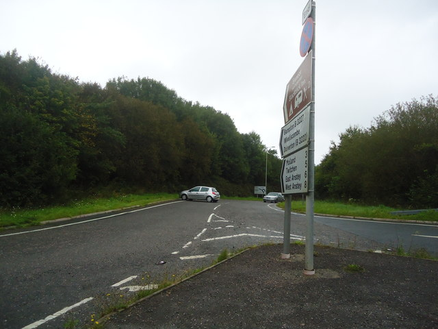 Exit from the North Devon Link road, to the B3227