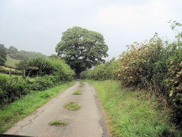 Minor road close to Pen-y-Parc
