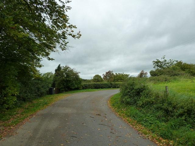 The view westwards along Church Lane