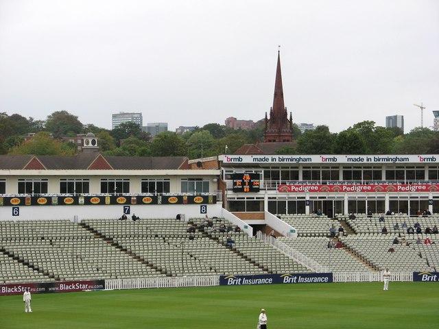 Edgbaston Cricket Ground: seats and spire