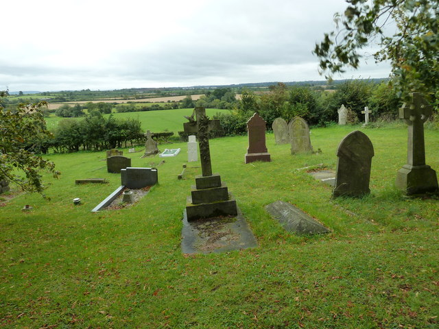 Looking westwards from the churchyard at Hockliffe