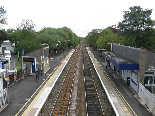 Lenzie railway station, looking ENE