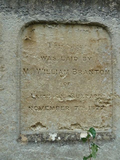 Foundation stone, Wesleyan Methodist Chapel (a)