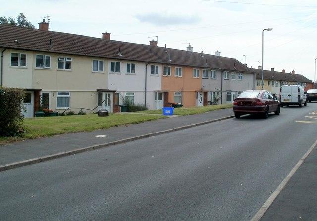 Row of houses, Brynglas Drive, Newport