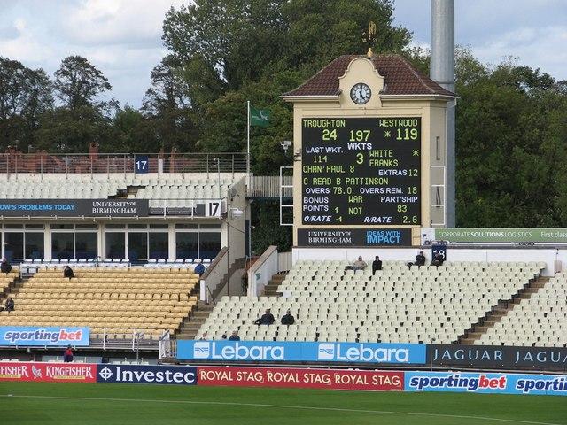 Edgbaston Cricket Ground: the scoreboard