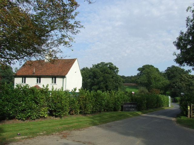 Driveway to Gaynes Park, near Epping