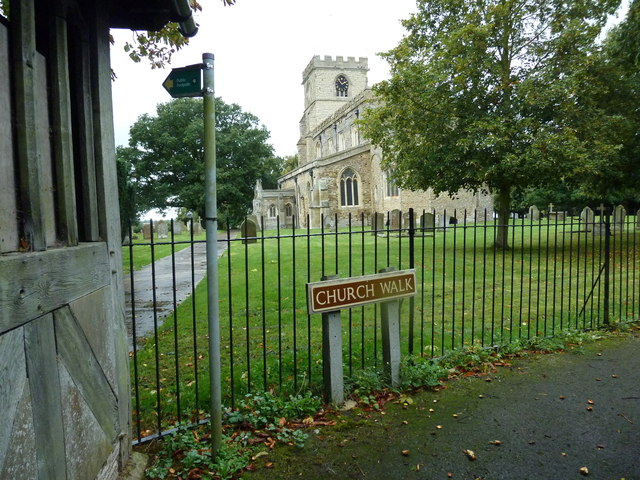 Looking from the lych gate towards the parish church