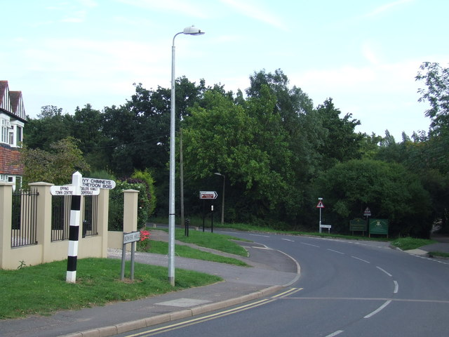 Road junction near Epping