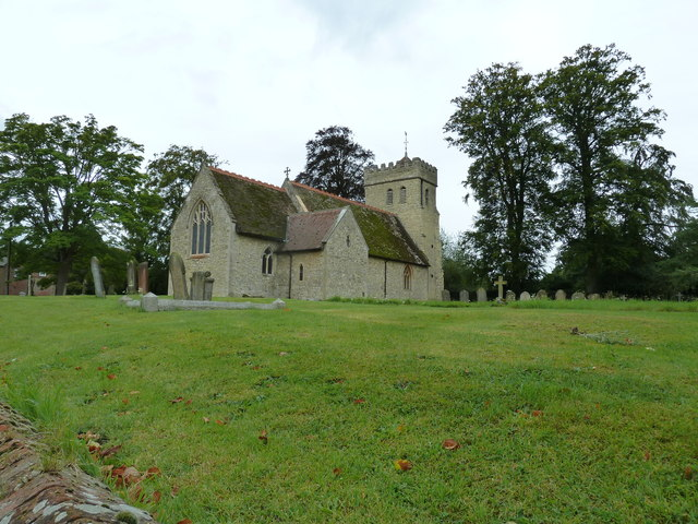 The church of St James the Great Aston Abbotts in early autumn