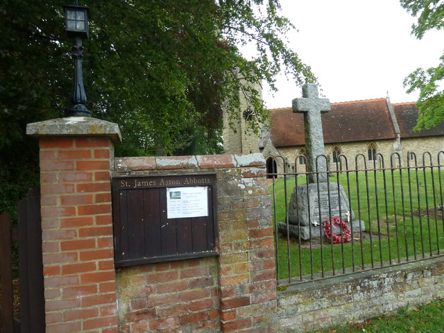 War memorial, St James the Great Aston Abbotts