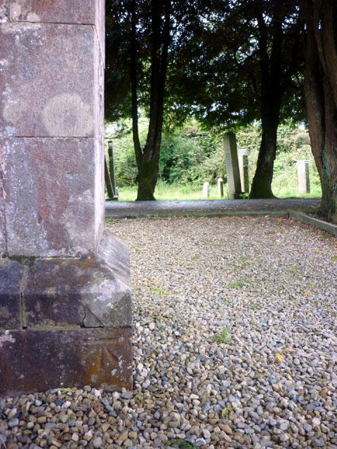 Bench mark, St Mary Magdalene's Church, Gilsland