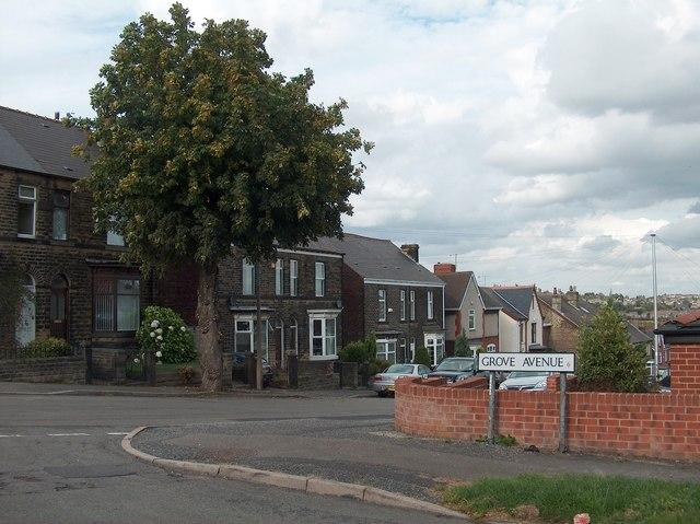 Junction of Langsett Avenue and Grove Avenue, Sheffield 6