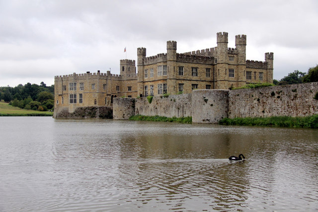 Moat, Leeds Castle, Kent