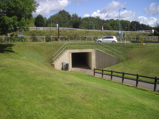 Subway under M27 at Rownhams services