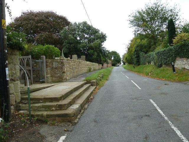 Church steps, Oving