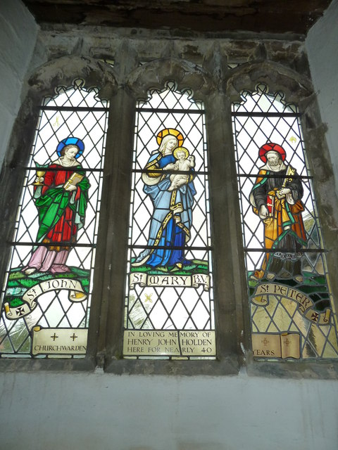 Assumption of the Blessed Virgin Mary, North Marston- stained glass window