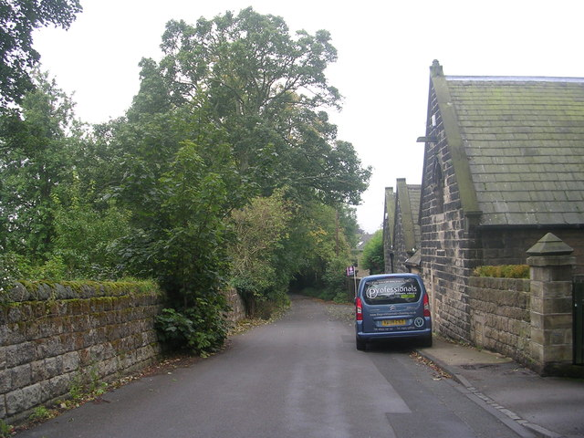 Knott Lane - viewed from Woodlands Drive