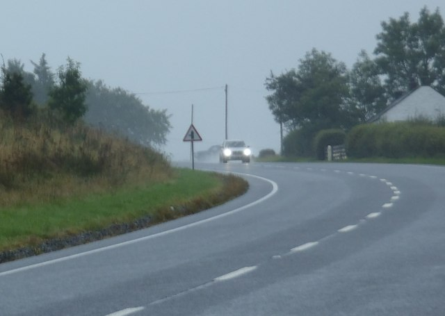 Poor weather on the A701