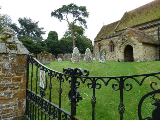 Holy Cross Hoggeston- church gates