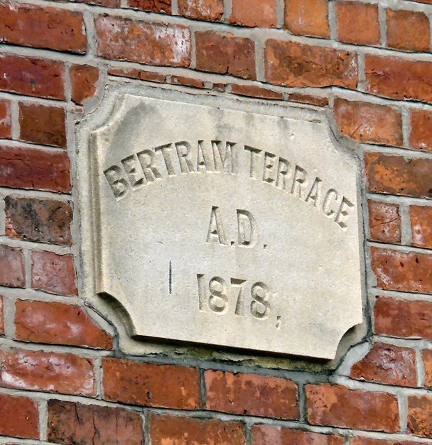 Bertram Terrace Date Stone 1878