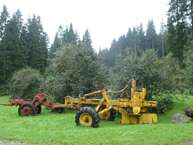 Old forest machinery, Ae Forest