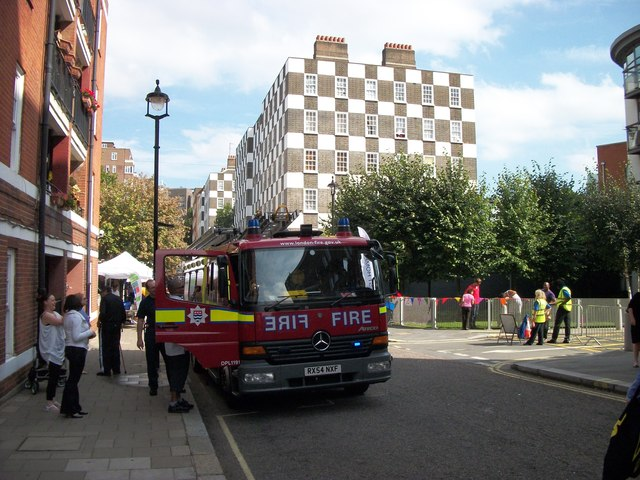 Fire engine in Vincent Street Westminster
